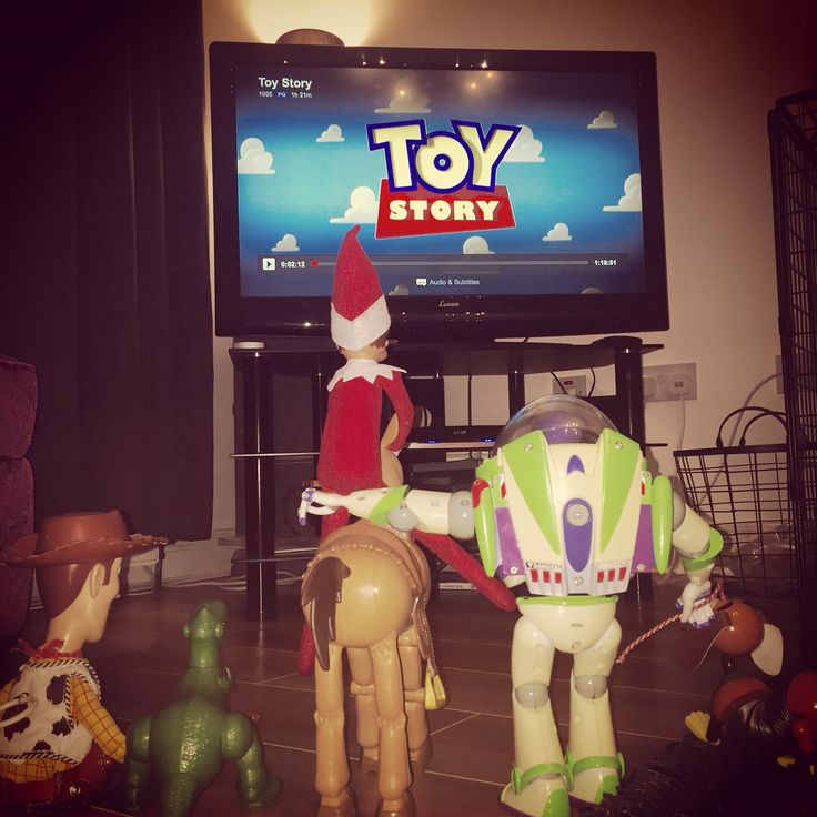 Elf on the shelf toddler funny idea toy story