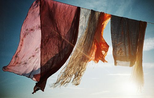 fabric, breeze, and light. A great combination. -via roaming with a hungry heart