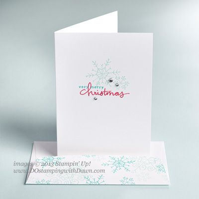 Stampin' Up!  Endless Wishes Photopolymer, Dawn Olchefske, DOstamping, Christmas