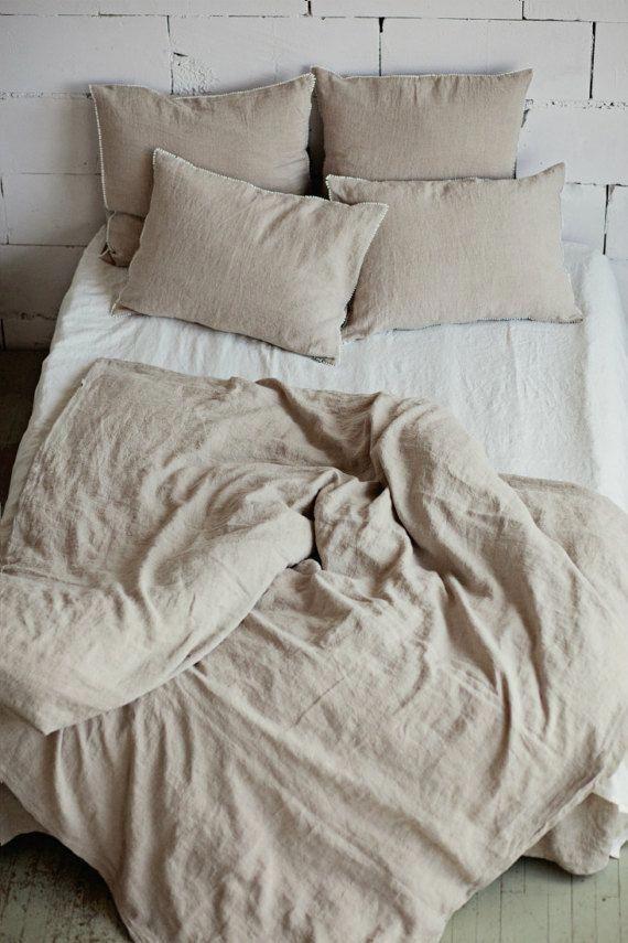 Bettbezug Aus Leinen In Der Farbe Natural Linen Oatmeal
