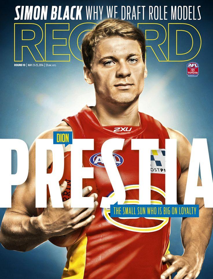 2014 AFL Record Round 10 | Gold Coast Suns - Dion Prestia | Publication Cover