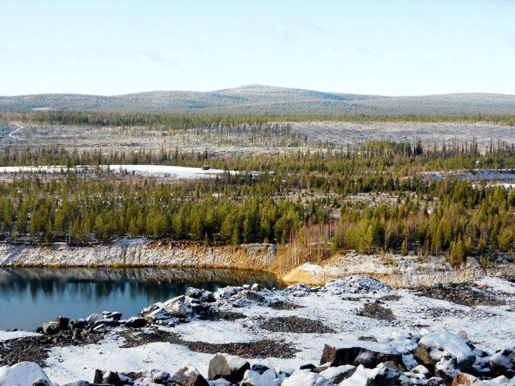 #wanderlust - Kolari, Laponie Finlandaise. Photo prise le 19/10/2012, depuis le site d'extraction du minerai de fer.