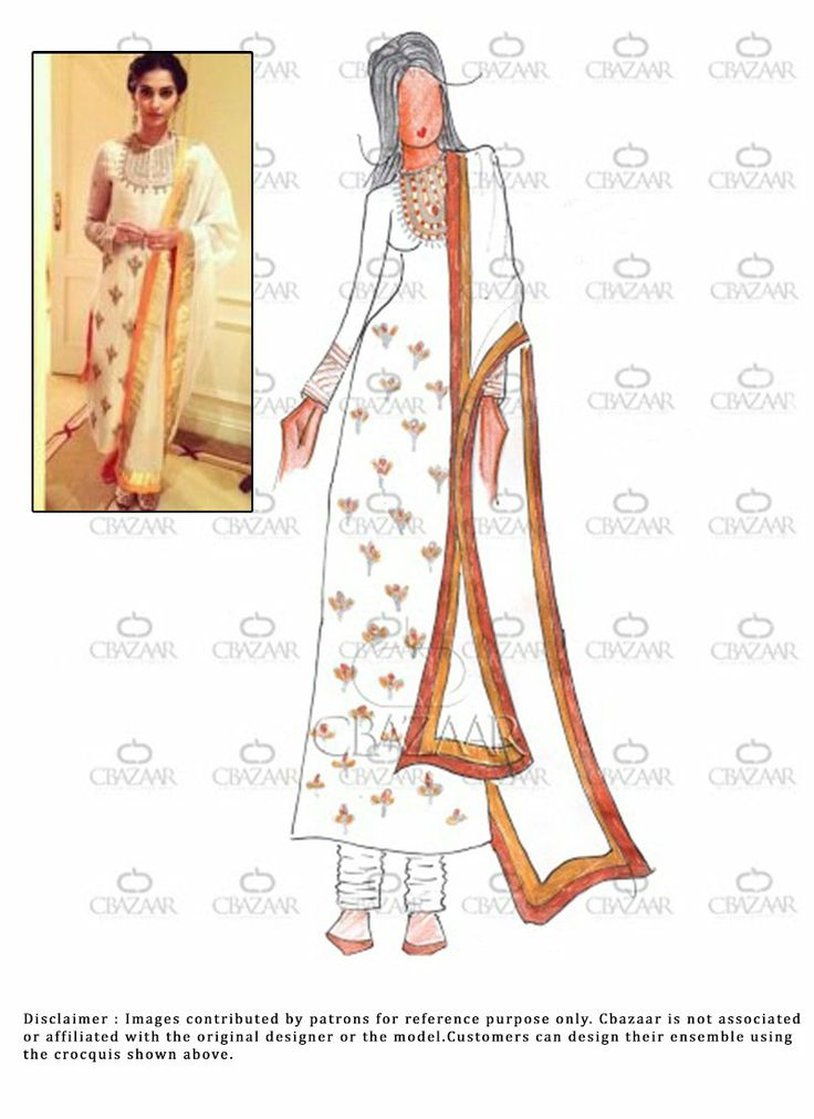 #Diy White #Georgette #SonamKapoor #Churidar