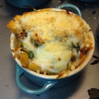 Lasagna-style baked ziti...thanks, Jeannette!