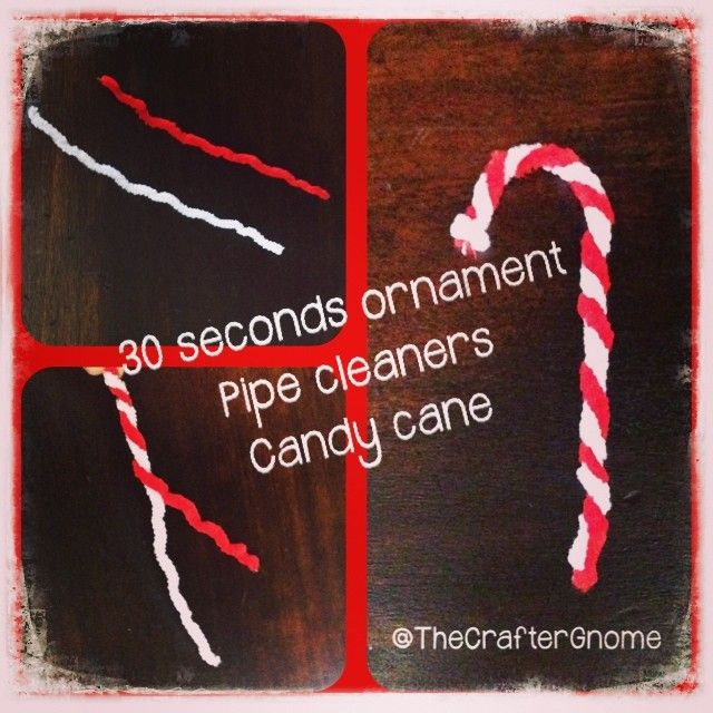#pipecleaners #xmas #candycane #ornaments #quick&easy
