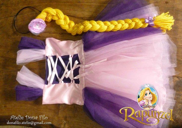 Dona Filó - Ateliê: Fantasia Tutu Rapunzel Enrolados