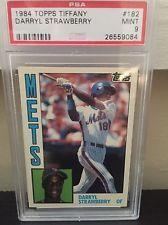 1984 Topps Tiffany #182 - Darryl Strawberry RC - PSA 9 MINT - New York Mets