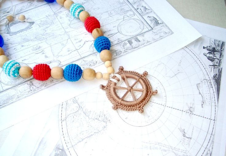 Nursing necklace Nautical Marine necklace from MiracleFromThreads  by DaWanda.com