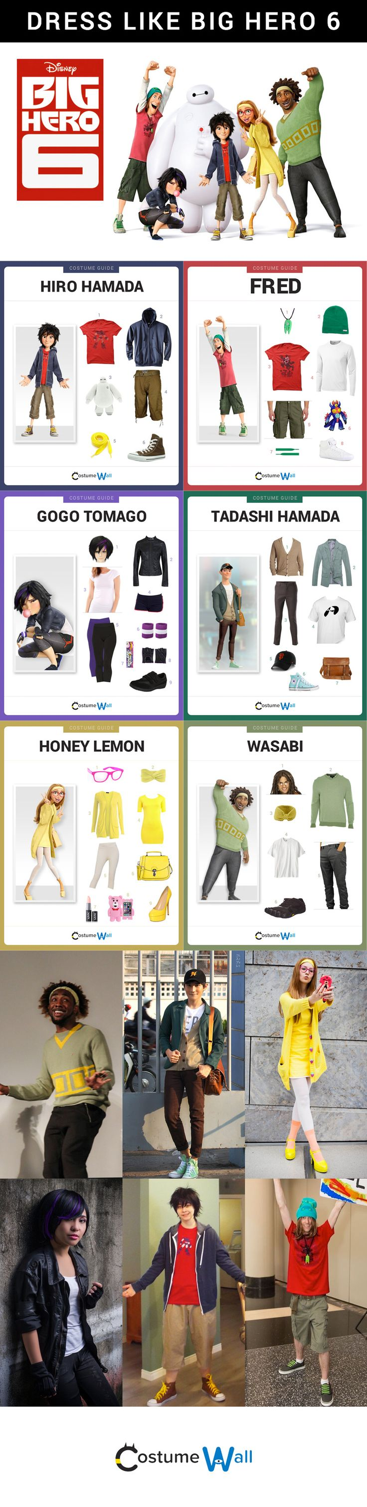 Check out these amazing costumes and cosplays from the Disney movie, Big Hero 6.