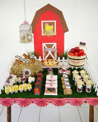 Party printables anniversaire thème ferme #anniversaire #enfants #ferme #sweettables