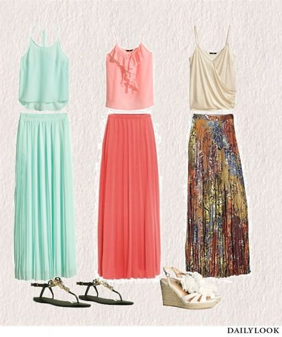 We love hairstyles, beauty and more...: Maxi rok combineren