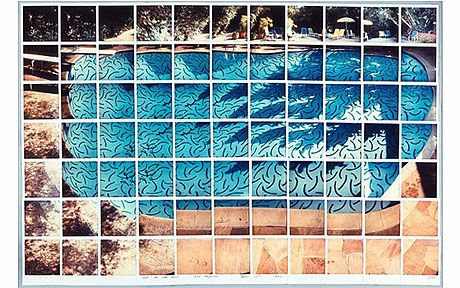 Sun on the Pool Los Angeles, 1982, by David Hockney