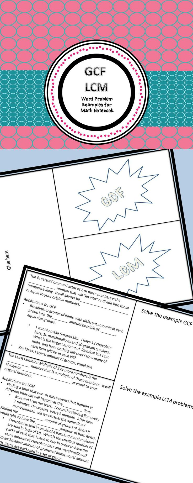 28 best math images on pinterest teaching ideas teaching math and math notebook folding resource fandeluxe Gallery