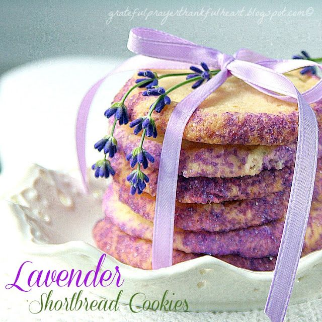 With a Grateful Prayer and a Thankful Heart: Lavender Shortbread Cookies