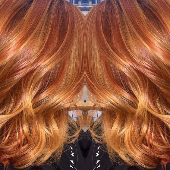 Red and blonde highlights in light brown hair trendy hairstyles red and blonde highlights in light brown hair pmusecretfo Choice Image