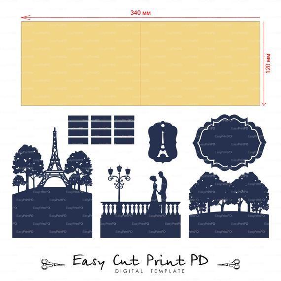 Pop Up Invitaciones De Boda Amantes De Paris Torre Eiffel Etsy Paris Cards Pop Up Card Templates Pop Up