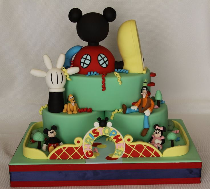 mickey mouse cakes for boys   Mickey Mouse Clubhouse/Mickey Park Cake