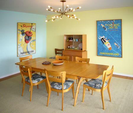 Heywood wakefield dining heywood wakefield vintage travel posters sputnik chandelier