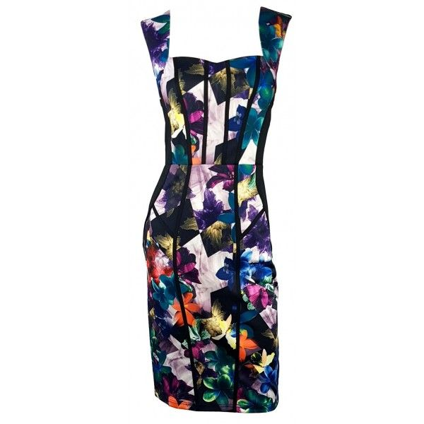 Zygmi Floral Slimming Cocktail Dress