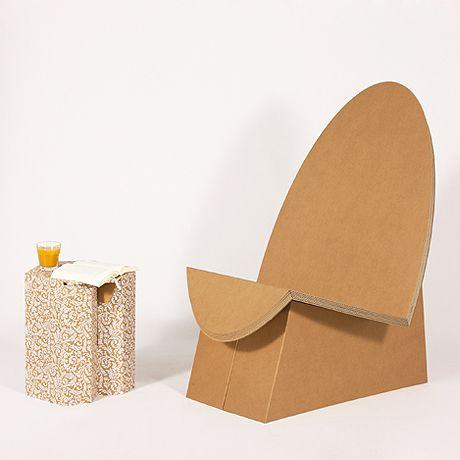 die besten 25 pappstuhl ideen auf pinterest karton. Black Bedroom Furniture Sets. Home Design Ideas
