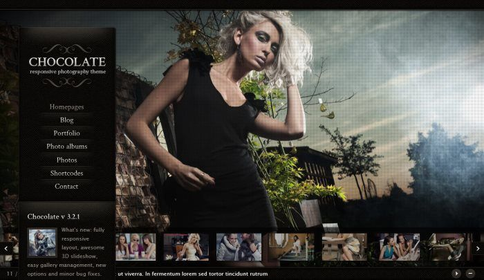 Chocolate WP – Responsive Photography Theme