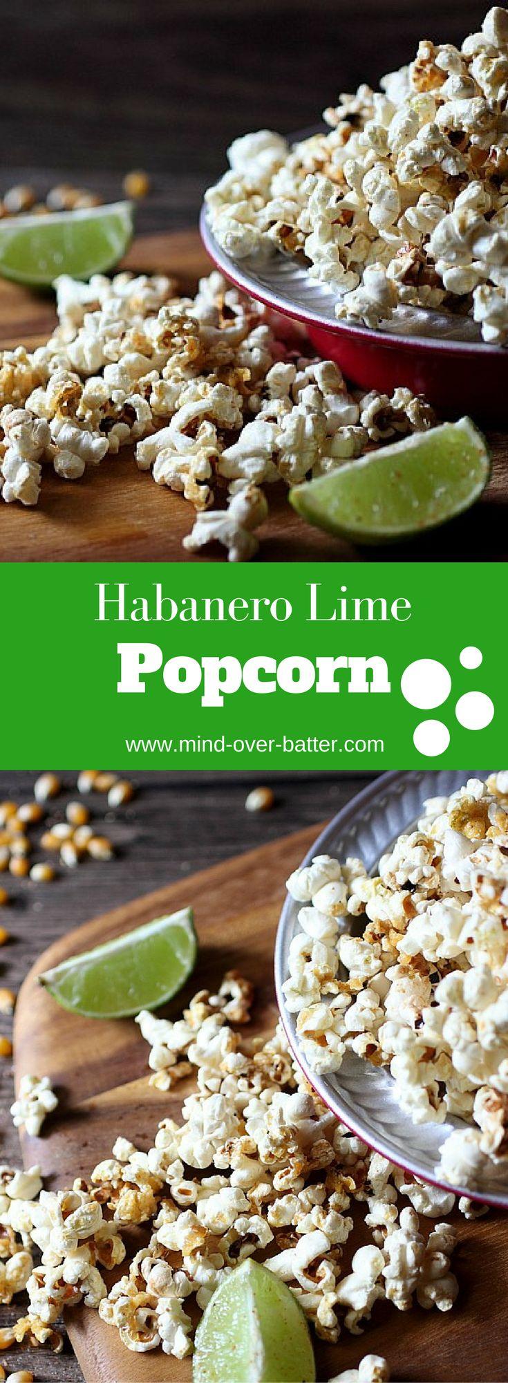 Habanero Lime Popcorn -- www.mind-over-batter.com
