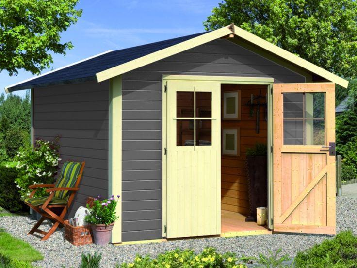 Soldes Abri de jardin Vente Unique, achat Abri de jardin NANTALI vitrifié - Surface 7.02m² - gris prix Soldes Vente Unique 999.99 € TTC au lieu de 1 399.99 €