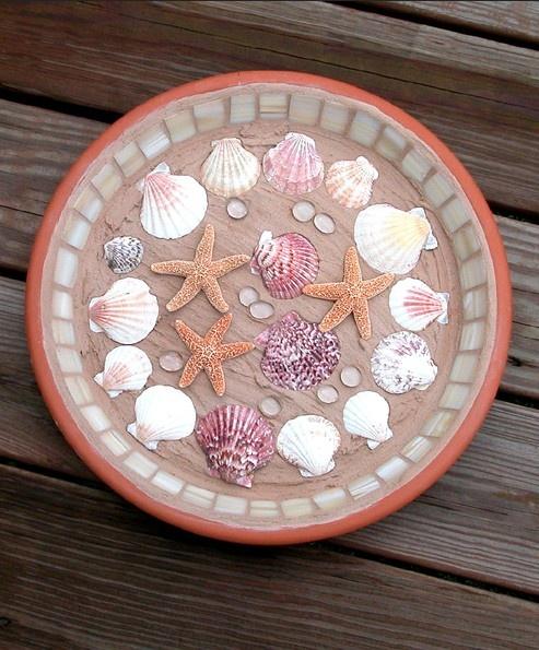 162 best seashells images on pinterest conch shells for Seashell mosaic art