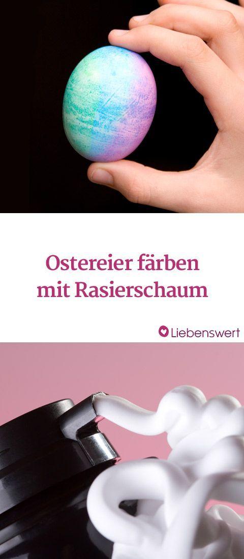 Ostereier in toller Marmor-Optik färben: Mit Rasierschaum klappt's