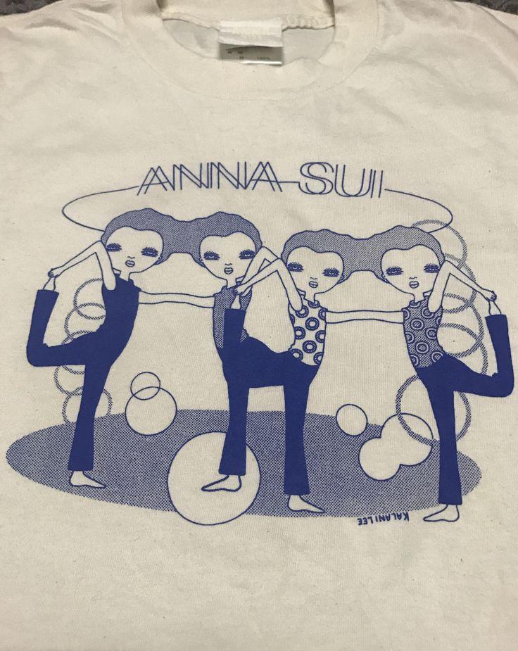 Sale!! Vintage ANNA SUI x Kalani Lee ][ Tshirt Made in USA ][ Saiz XLarge like Medium/Large by HippopK on Etsy https://www.etsy.com/au/listing/515936034/sale-vintage-anna-sui-x-kalani-lee