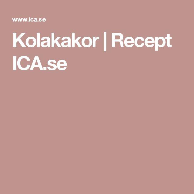 Kolakakor | Recept ICA.se