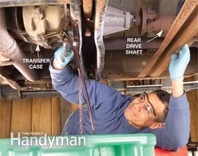 Crawl under your truck and save some money with these DIY repairs! Get the guide: http://www.familyhandyman.com/automotive/save-money-with-diy-truck-repair/view-all