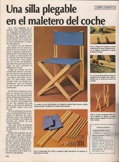 Como hacer una silla plegable de madera