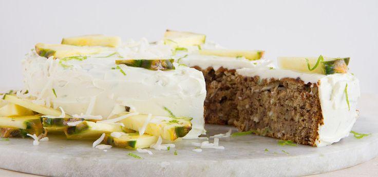 Coconut, Pineapple   Banana Cake (Wheat & Dairy-Free) - Sub coconut flour for the gluten-free flour?