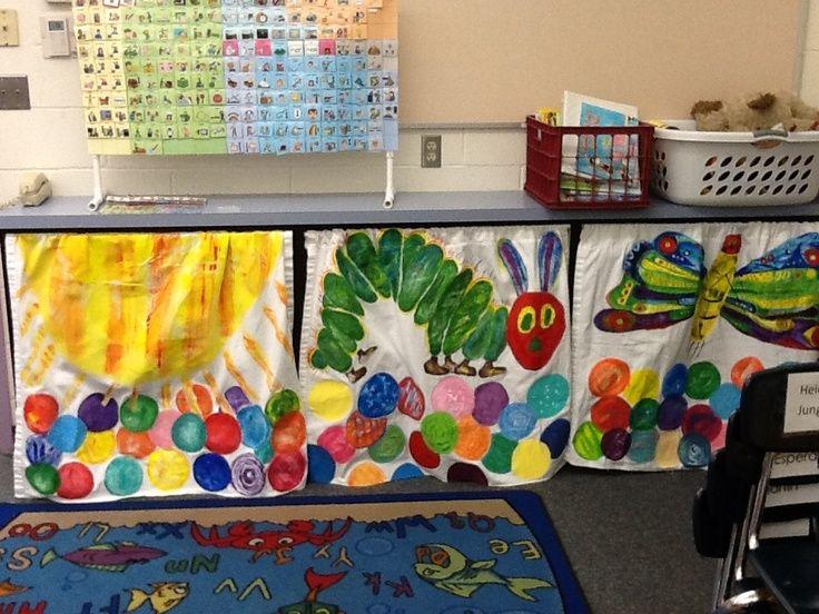 Classroom Curtain Ideas : Hungry caterpillar curtains classroom ideas