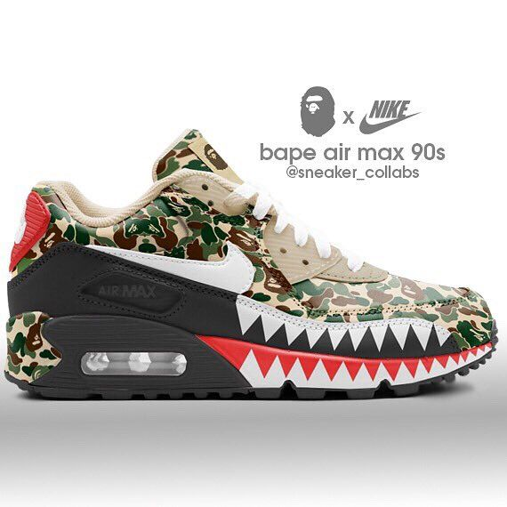 c9b7e429114ff0 Bape Air Max 90 via sneaker collabs cus  bape  bapehead  sneakerhead   finditstyleit  getitnow  streetstyle  camo  legitas  onfleek
