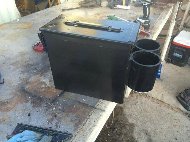 Ammo Can Cup Holder Center Console Jeep Stuff