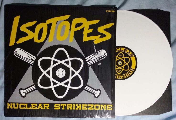 Isotopes Nuclear Strikezone White Color Vinyl Baseball Themed Punk Rock Songs #Punk