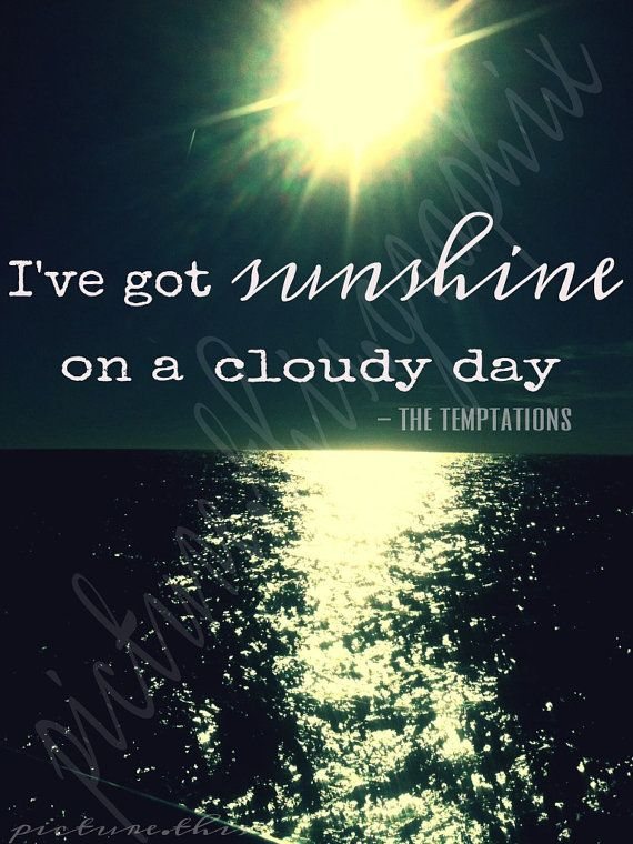 The sunshine can found not only in the morning, but also in the situations that you are in middle of darkness and you succeed on it. :)