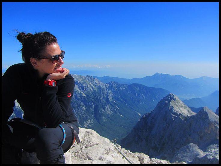 Branka from Croatia on Triglav Mountain