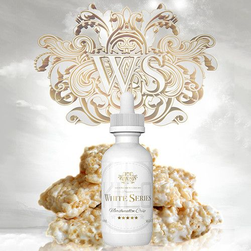 Kilo eLiquids White Series Marshmallow Crisp - A deliciously sweet, toasted rice cereal stirred into a bowl of gooey melted marshmallows. 70% VG