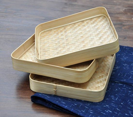 Woven bamboo trays from West Java. theartisanstablestore.com