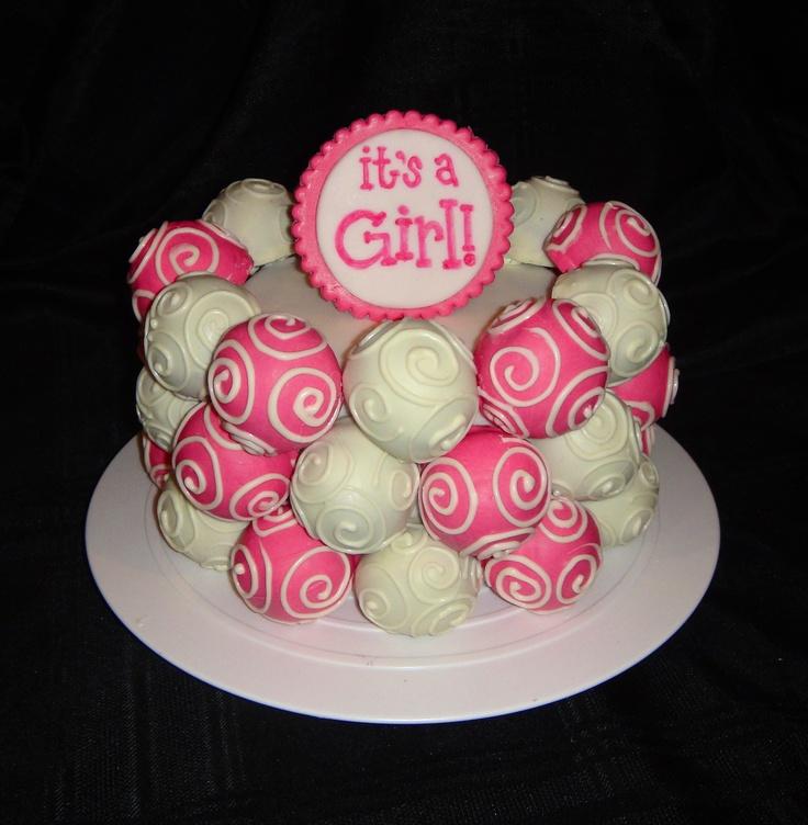 Baby Shower Cake Ball Cake Diaper Shower Ideas Pinterest