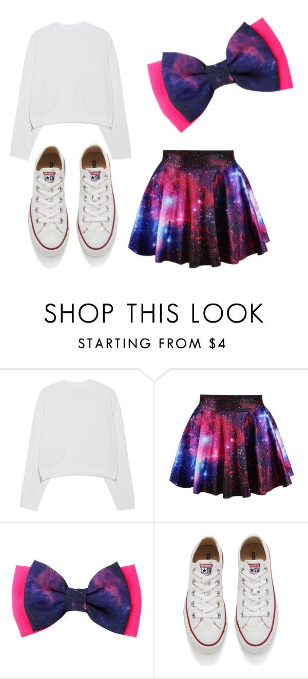 """jojo siwa"" by dannitha-itzel ❤ liked on Polyvore featuring Acne Studios and Converse"