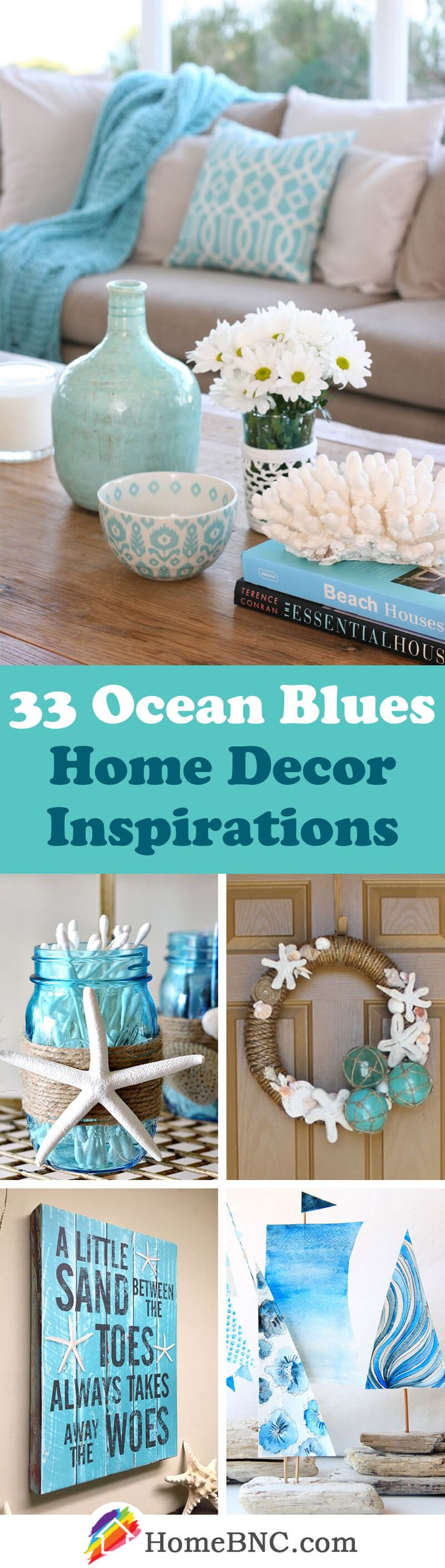 Lovely 33 Gorgeous Ocean Blues Home Decor Inspirations To Update Your Living Space