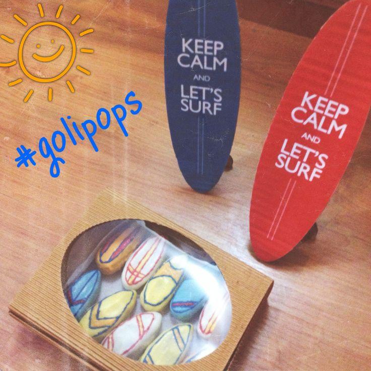 Surf / summer / beach cakepops party food #golipops