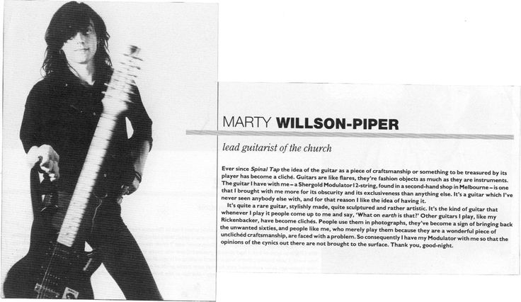 Marty Willson-Piper of The Church.