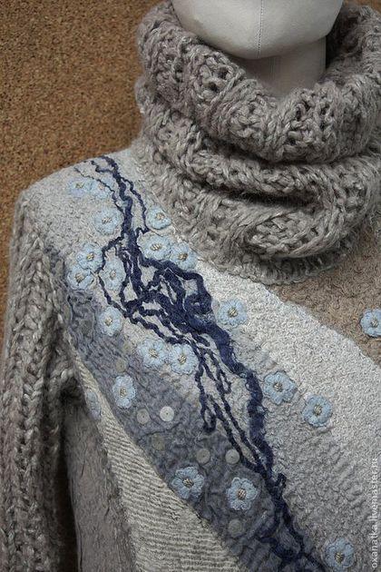 Кофты и свитера ручной работы. Ярмарка Мастеров - ручная работа. Купить Валяный свитер Овсянка, сэр)). Handmade. Бежевый, печворк