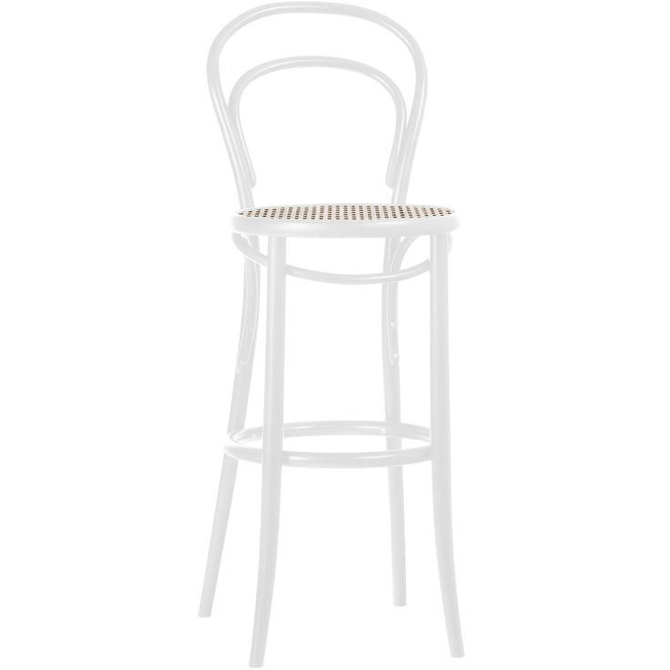 No14 barstol H61, vit/rotting i gruppen Möbler / Stolar & Pallar / Barstolar hos RUM21.se (132616)