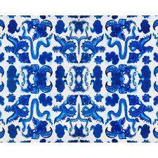 Porcelain Print in Blue/White